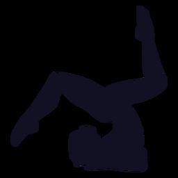 Silueta de mujer gimnasta ejercicio