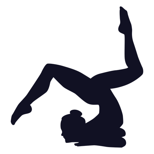 Woman gymnast exercise silhouette Transparent PNG