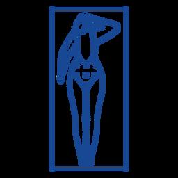 Curso de almofada de tapete de esteira de mulher