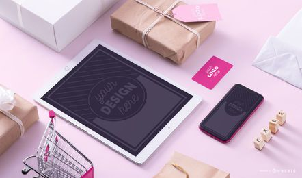 Sale Products Mockup Composition