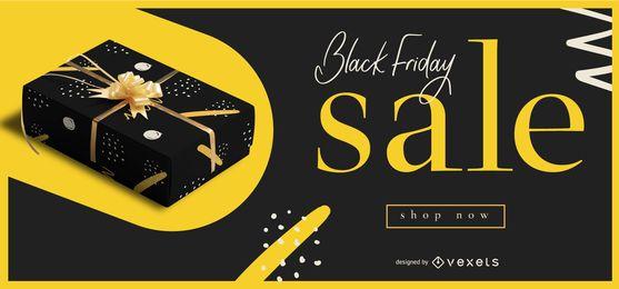 Banner editável de venda sexta-feira preta
