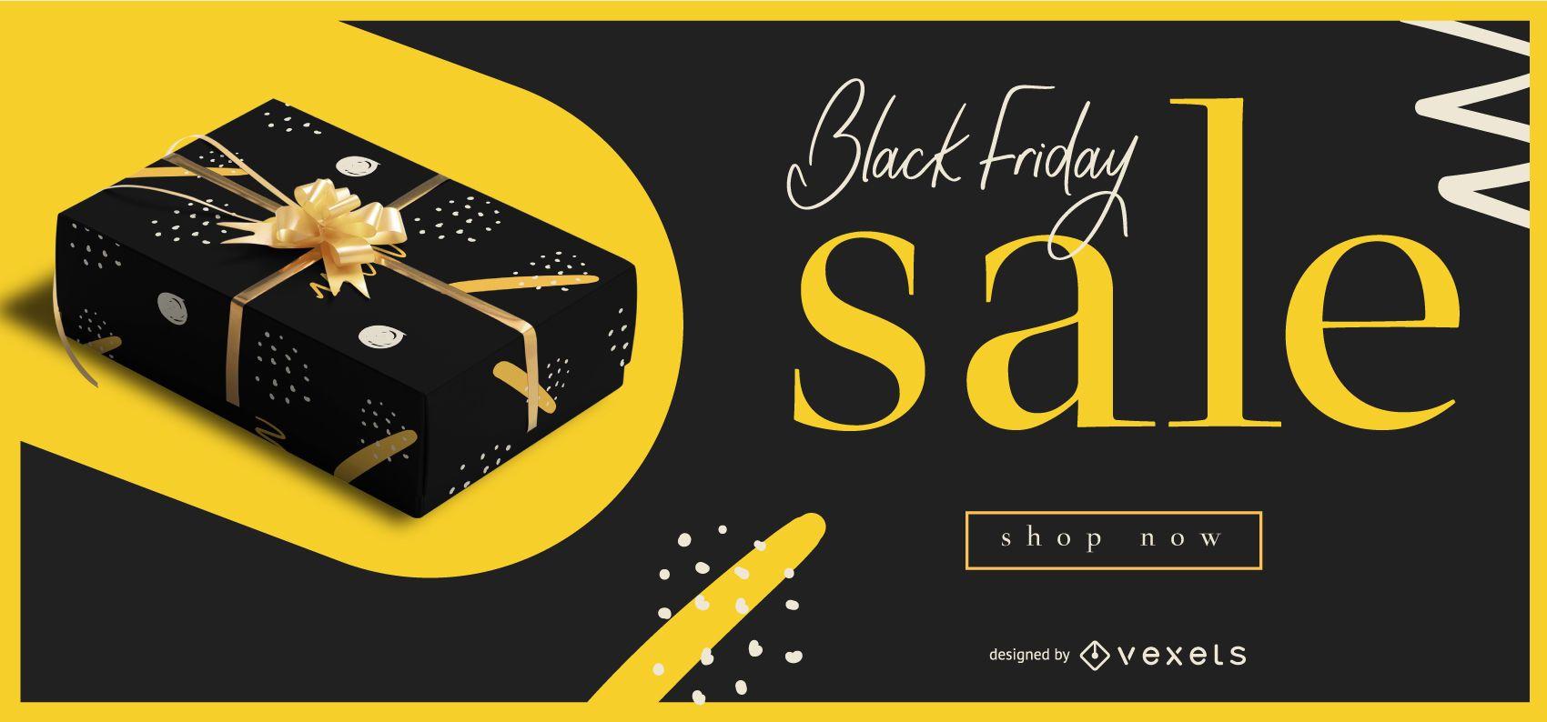 Banner editable de venta de viernes negro