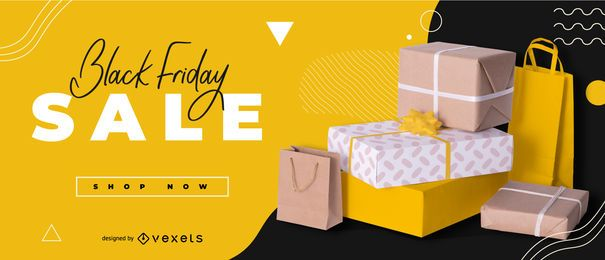 Black friday sale editable banner design