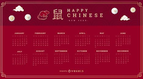 2020 Chinese new year calendar