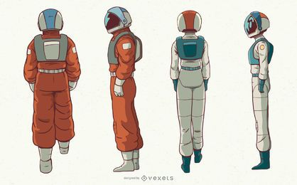 Astronauts character set