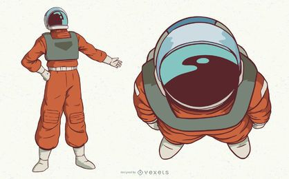 Astronaut space character set