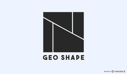 Modelo de logotipo de formas geográficas