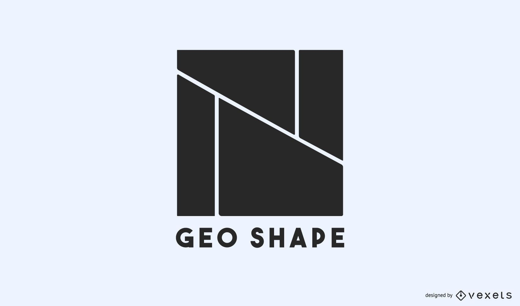 Geo shapes logo template