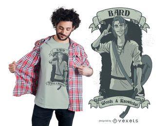 Diseño de camiseta de bardo