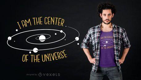 Diseño de camiseta del centro del universo