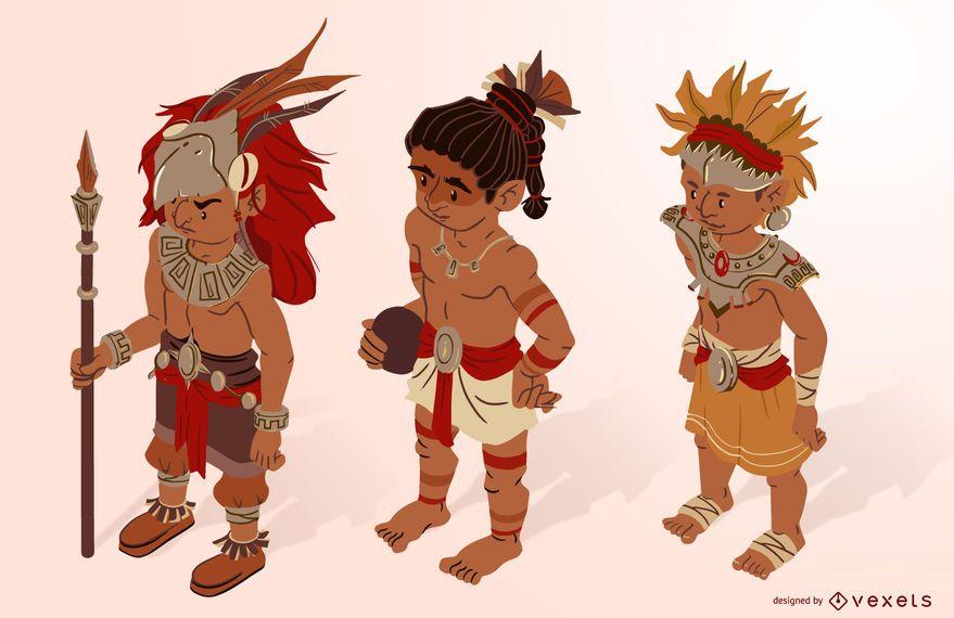 Conjunto isométrico de caracteres astecas