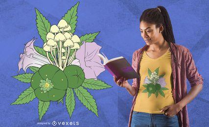Diseño de camiseta de plantas psicoactivas