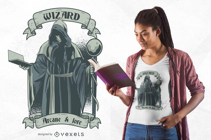 Diseño de camiseta de mago