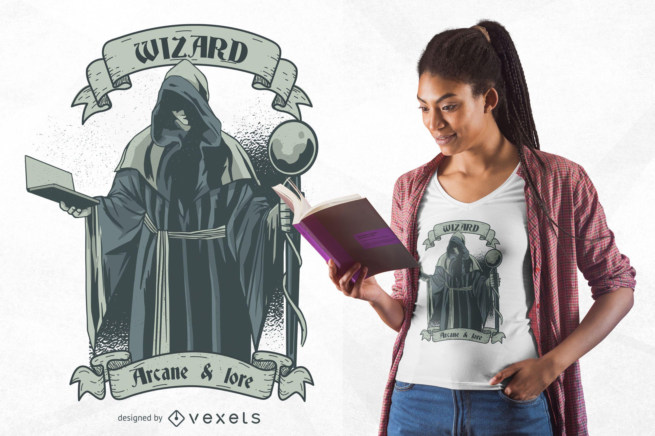 Wizard t-shirt design