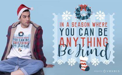 Be kind christmas t-shirt design