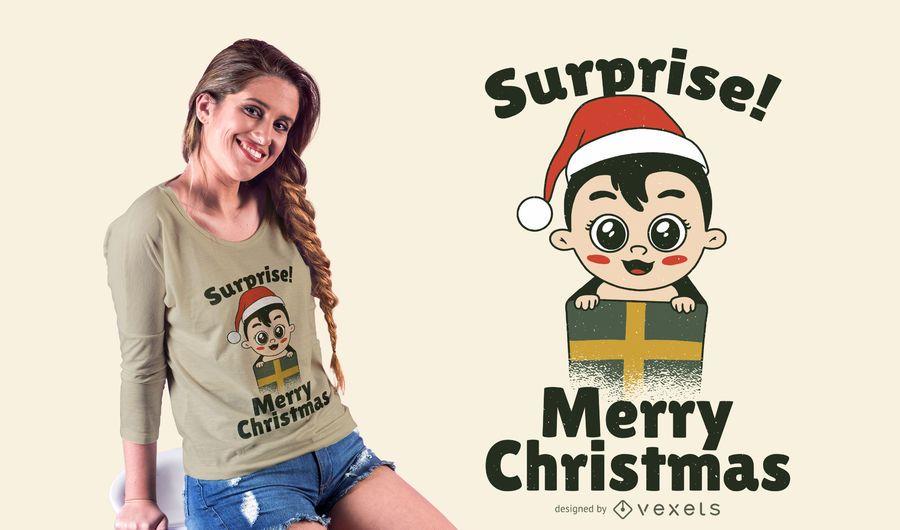 Baby present t-shirt design