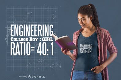 Design de camiseta de engenharia