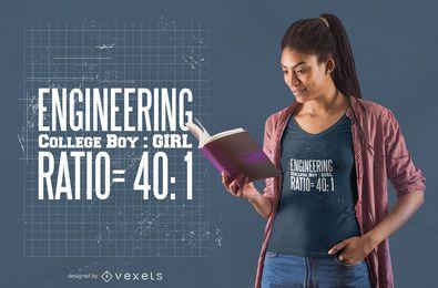 Diseño de camiseta de ingeniería