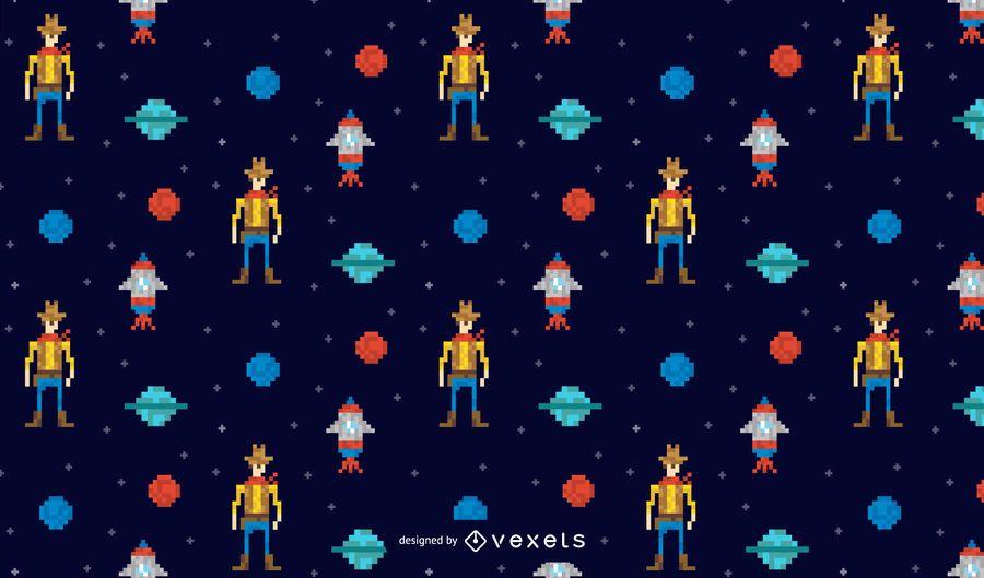 Space cowboy pattern design