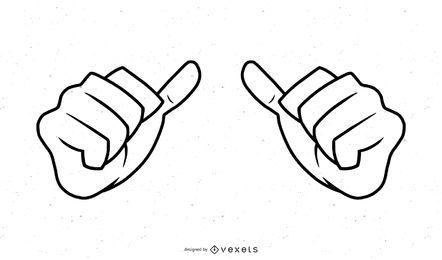 Hände streicheln Illustration