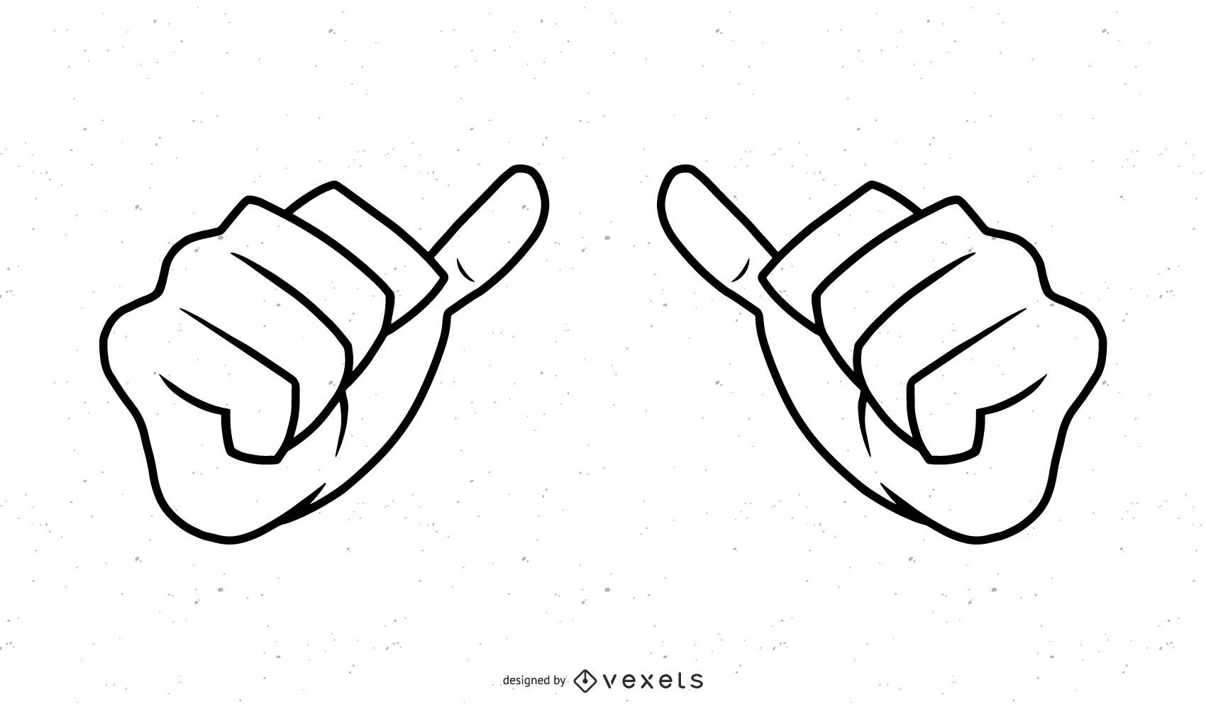 Hands stroke illustration