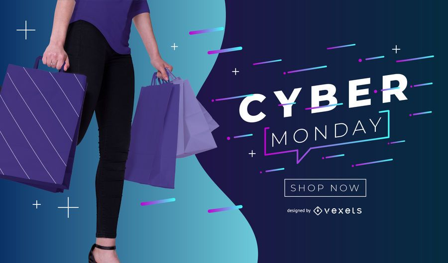 Cyber Montag bearbeitbare Banner