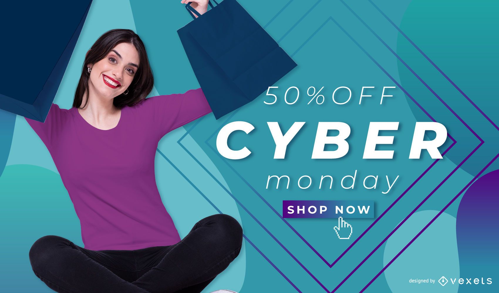 Cyber monday banner template