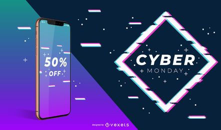 Cyber monday phone banner