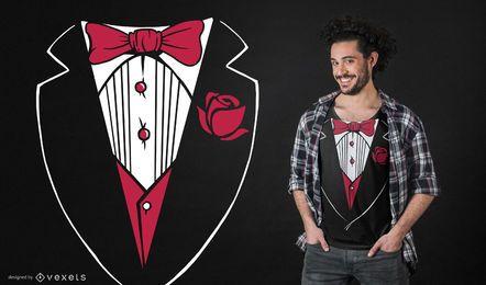Tuxedo Funny T-shirt Design