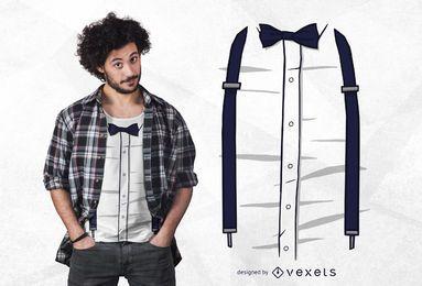 Design engraçado do t-shirt dos suspensórios
