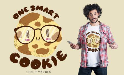 Design inteligente de t-shirt de biscoito