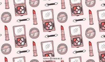 Hand drawn makeup pattern design