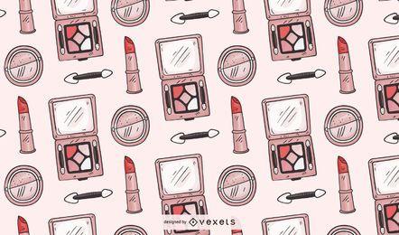 Hand gezeichnetes Make-up-Musterdesign