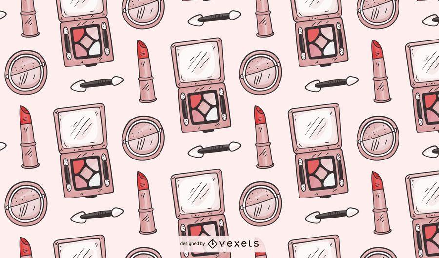 Diseño de patrón de maquillaje dibujado a mano