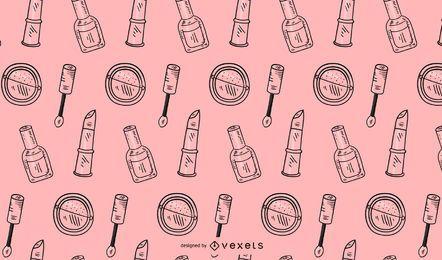 Diseño de patrón de maquillaje rosa