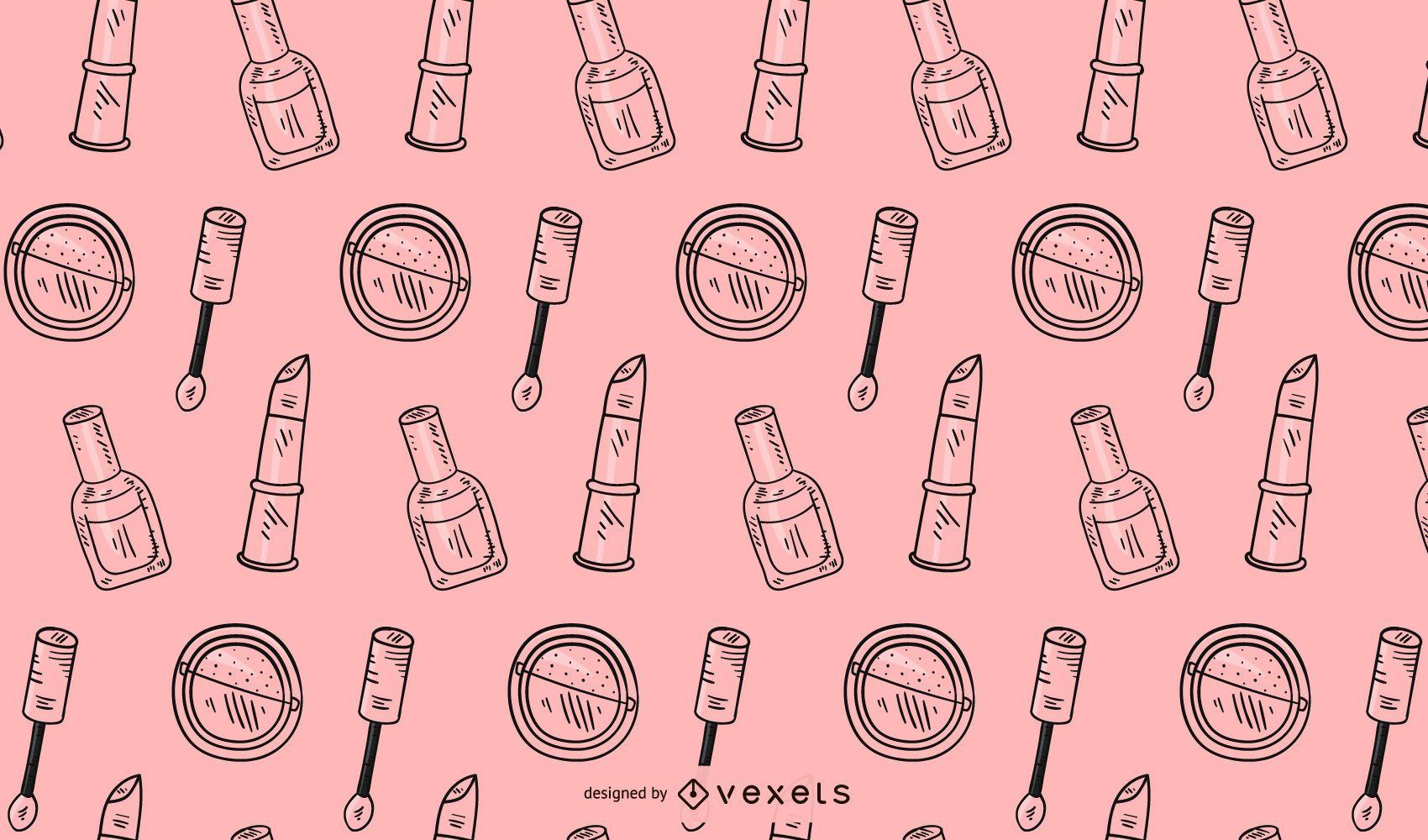 Pink makeup pattern design
