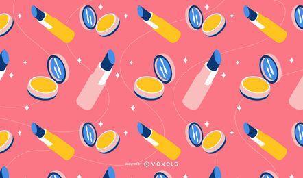 Diseño de patrón de lápiz labial isométrico