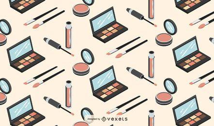 Isometrisches Musterdesign des Make-ups
