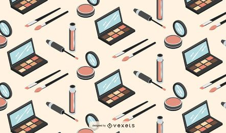 Makeup isometric pattern design