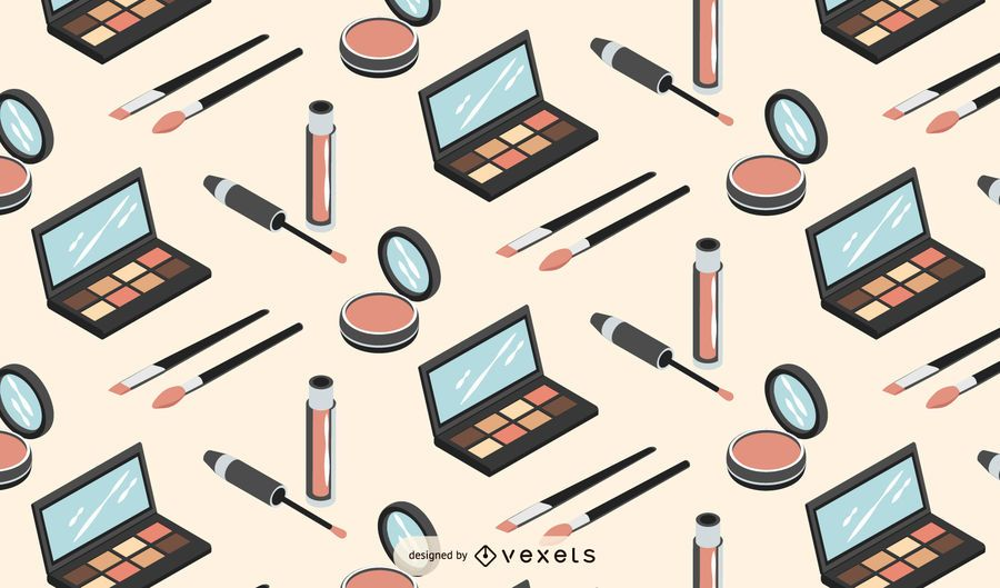 Makeup isometric pattern design