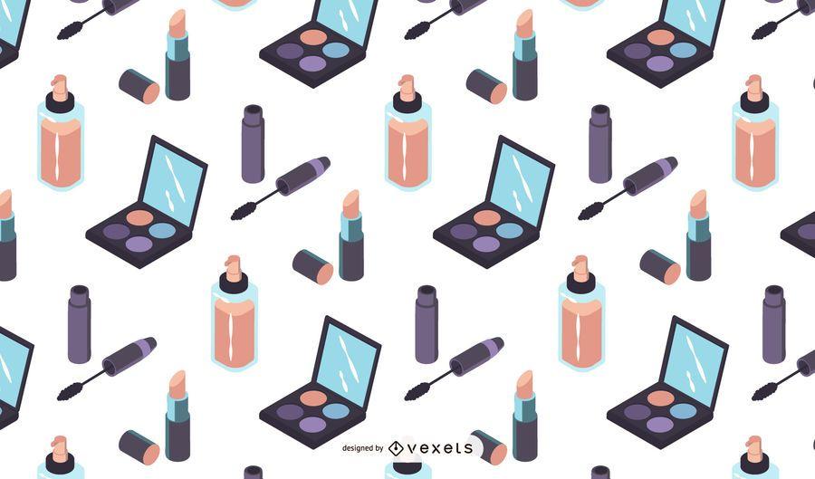 Isometrische Make-up-Muster-Design