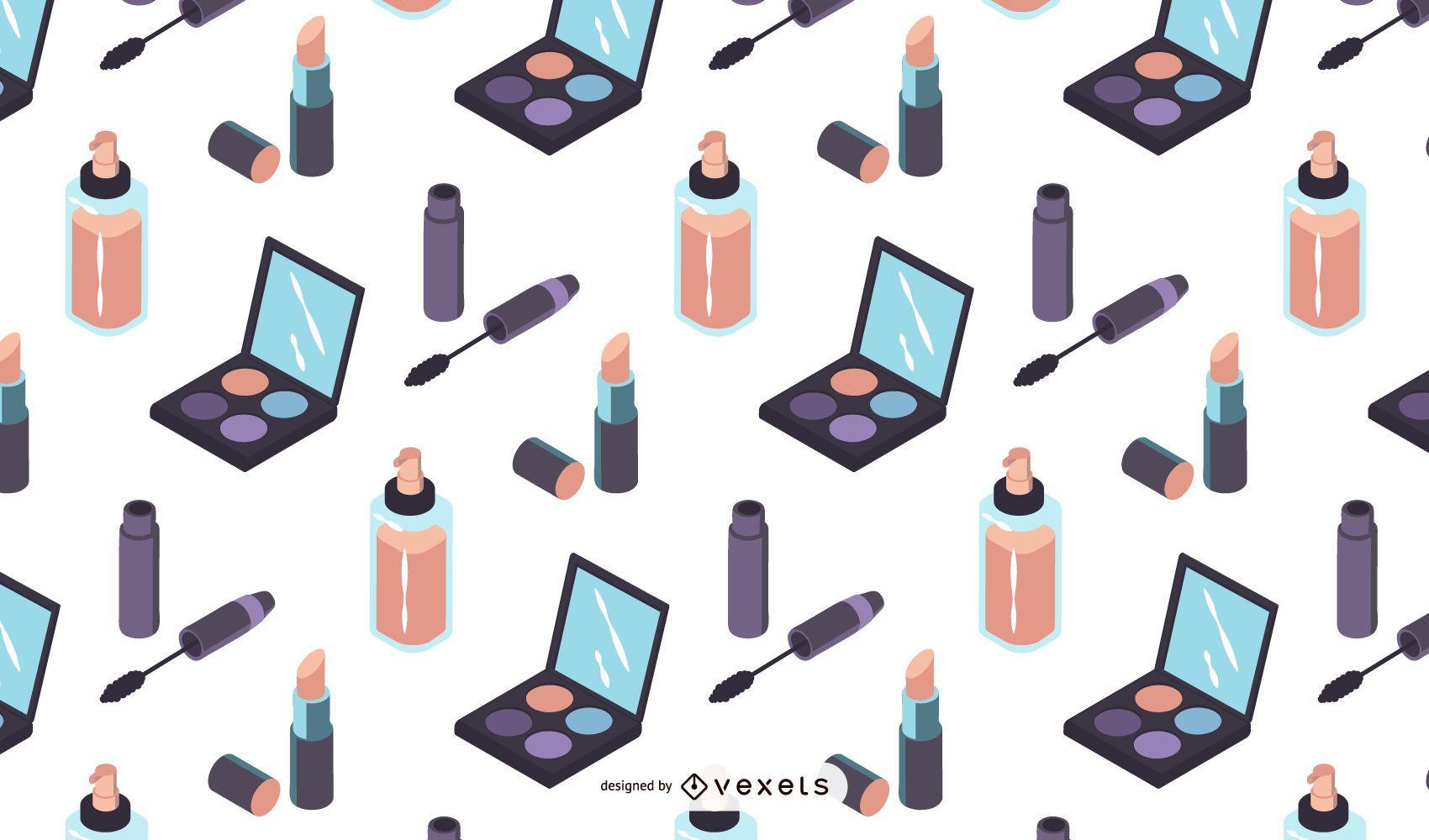 Isometric makeup pattern design