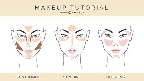 Ilustración tutorial de maquillaje
