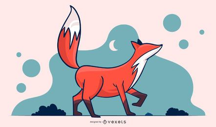Fox simple illustration design