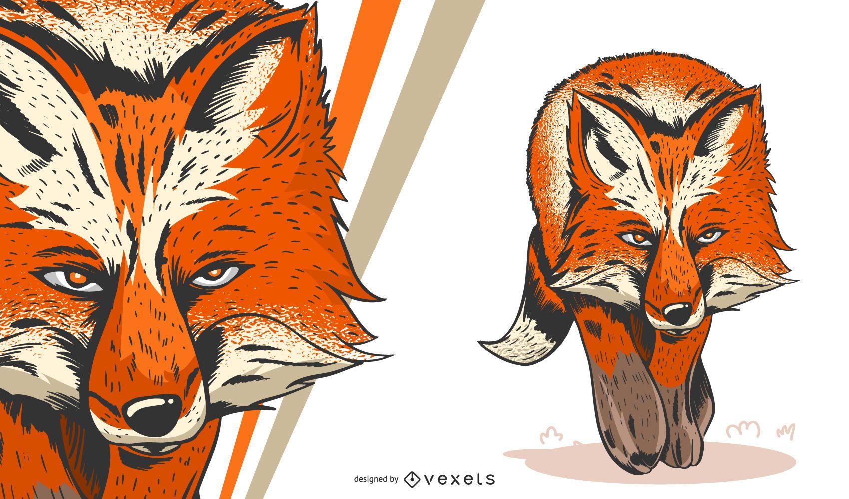 Ilustración artística de Fox