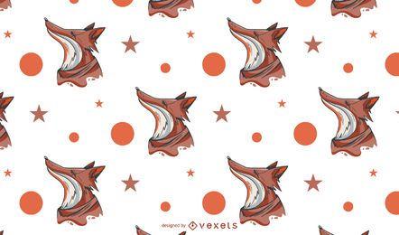 Diseño de patrón abstracto de zorro