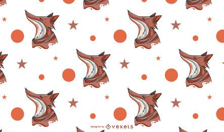 Fox abstract pattern design