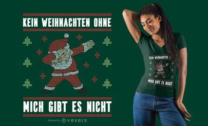 Diseño de camiseta alemana de suéter feo