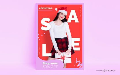 Cartaz editável de Natal