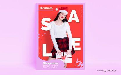 Weihnachten editierbares Plakat
